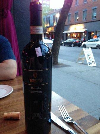 Buonanotte: Excellent window seat. Wine was $70