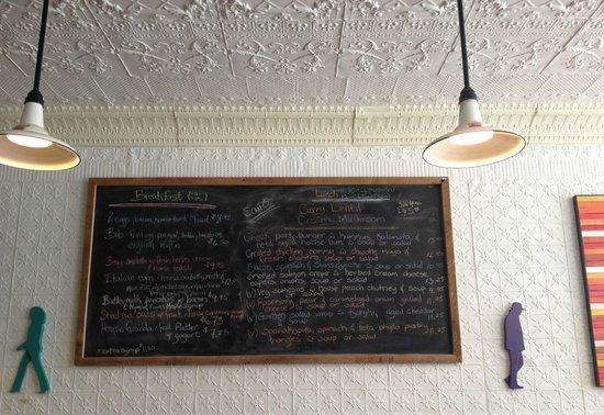 Tall Poppy Cafe : Menu
