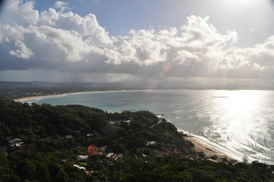 Cape Byron Lighthouse: Looking West to Byron Bay