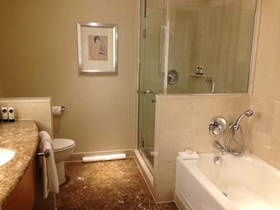 Sofitel New York: Updated, modern, perfectly appointed bathroom