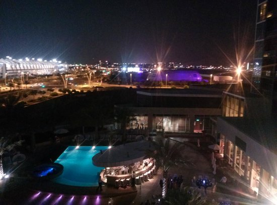 Yas Island Rotana: View during night