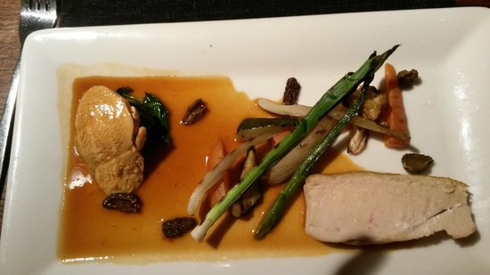 No 9 Church St: Chicken with charred baby leeks and morel mushrooms