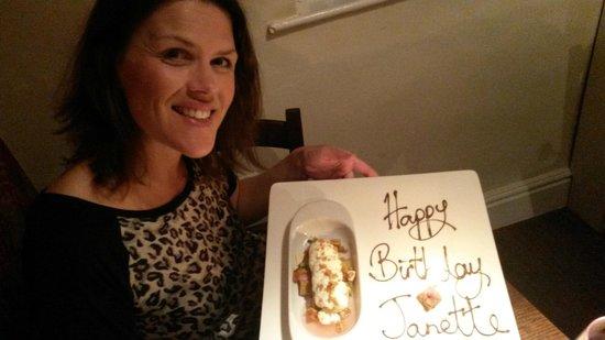 No 9 Church St: Special Birthday dessert!