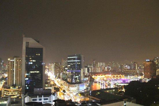 Peninsula Excelsior Hotel: Singapore at night