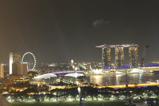 Peninsula Excelsior Hotel: Marina Bay Sands Casino at night