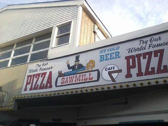 Sawmill entrance to the boardwalk