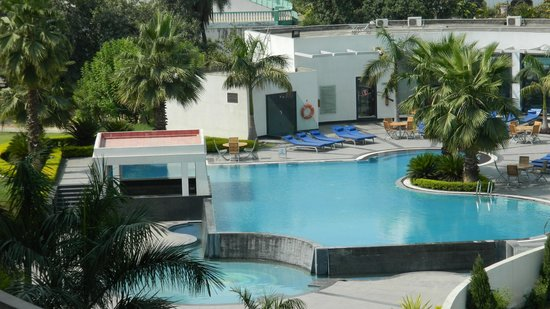 Ramada Plaza JHV Varanasi: View from pool facing room