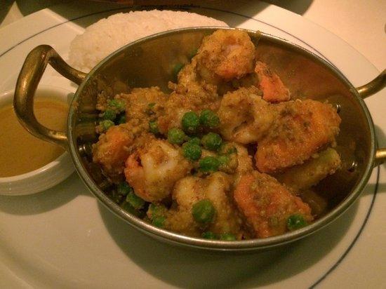 Jimmy's Kitchen Ashley Road : Prawn Madras served dry with rice