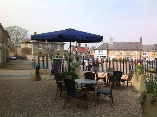 Cafe fortysix: lovely terrace to enjoy a coffee or a glass of wine at Cafe 46