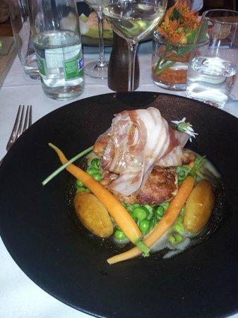 Café Beau-Rivage : CRISPY VEAL SWEETBREAD, GREEN PEAS & BACON