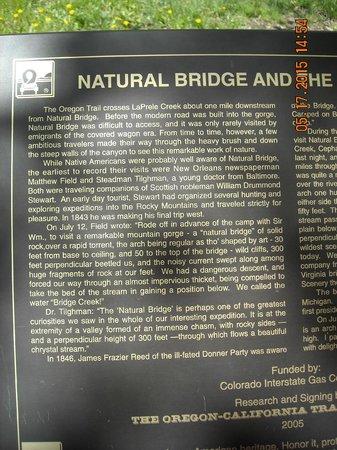 Ayres Natural Bridge: Tourist Info Sign 01