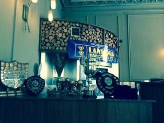 Lansdown: Trophies set up