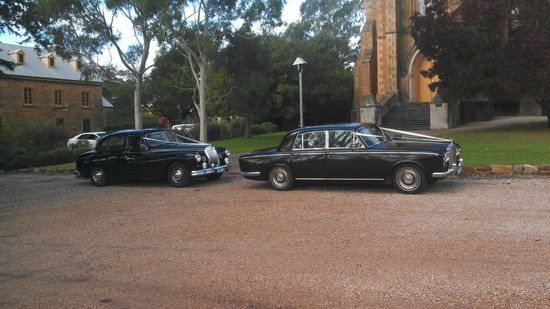 Daisy's Vintage & Classic Car Tours: Wedding at Sevenhill church