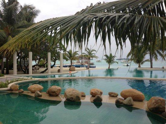 Holiday Inn Resort Kandooma Maldives : Pool overlooking the Beach