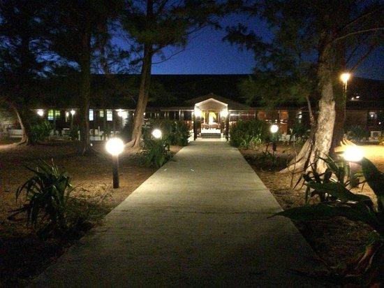 Entrance of the Avillion Layang Layang resort from runway
