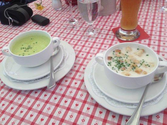 Zum Alten Markt: Asparagus Soup, Wild Garlic Soup