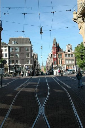 Amsterdam Downtown Hotel: Just off the tram line