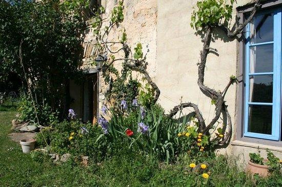 La Ferme Lavaldieu: Aperçu du jardin et de la salle d'activités (stages)