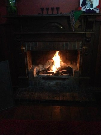 Seaview Tavern: Beautiful Log Fire