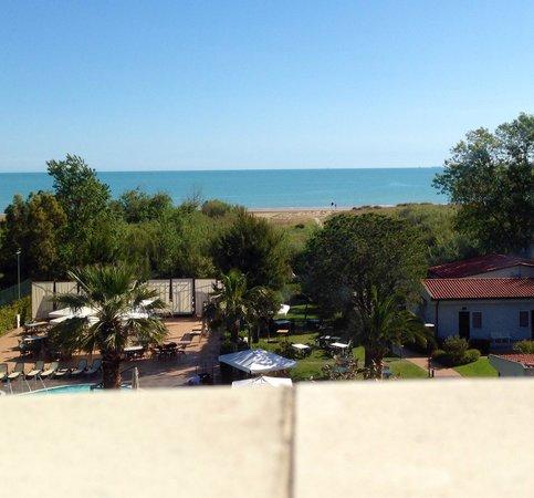 Hotel Acquario: Vedevamo questo dalla nostra stanza...