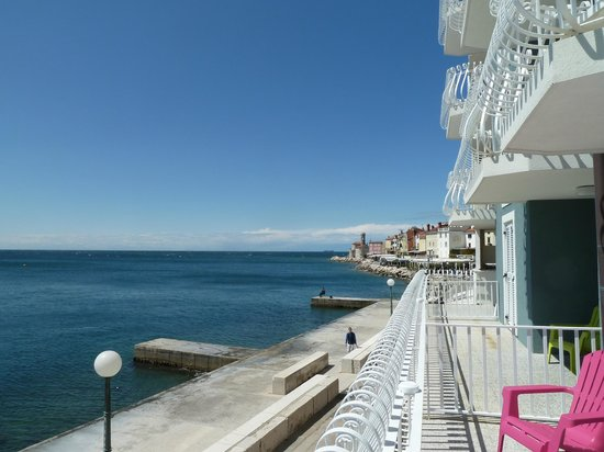 Hotel Piran: View from balcony