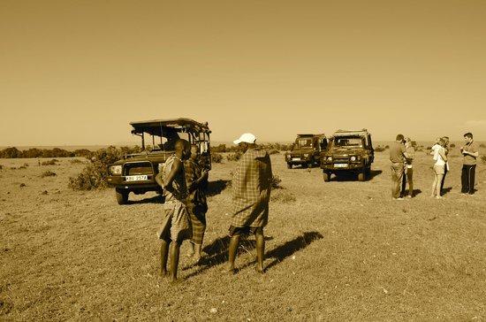Offbeat Mara Camp: petit déjeuner au milieu de la savane