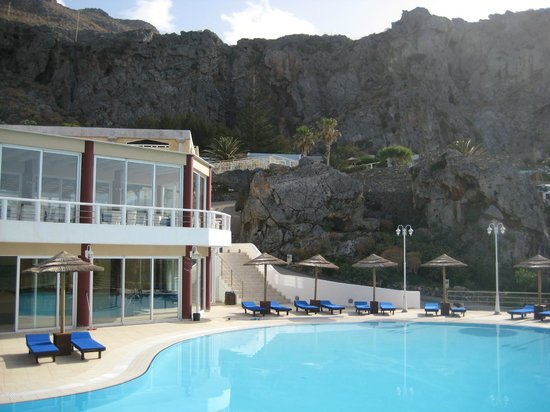 Kalypso Cretan Village : salle à manger à l'étage