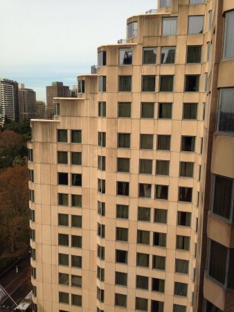 Sheraton on the Park, Sydney: Facing a wall