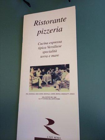 Caffe Roma: Menu
