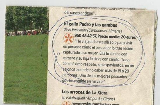 El Pescador, Carboneras - Fotos, Número de Teléfono y Restaurante ...