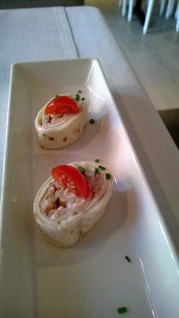 Les Capucins: amuse-bouche aux crevettes