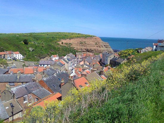 Ridge Hall Cottages: View over Staithes
