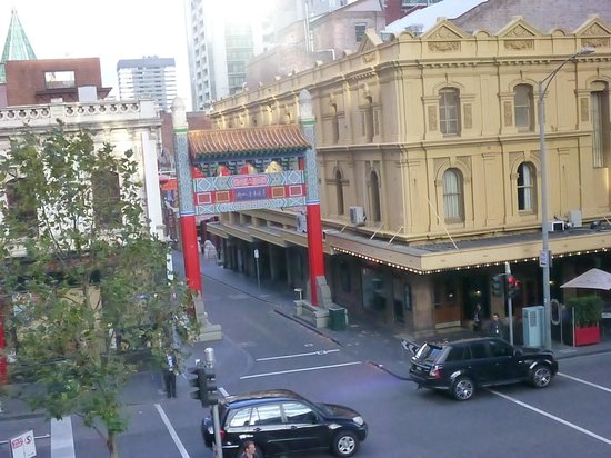 Rydges Melbourne Hotel: View of Chinatown from Conference Room