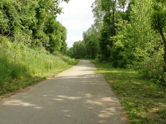 Looking North on the Tinker Creek Greenway.