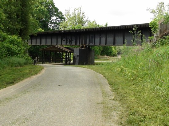 Tinker Creek Greenway: Going under one of two N&S bridges near the Roanoke River heading South on the Greenway.