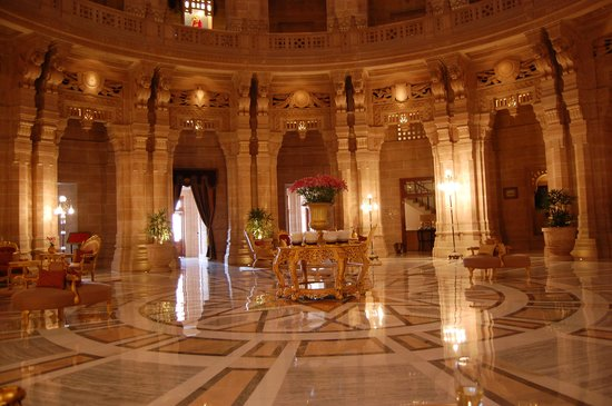 Umaid Bhawan Palace Jodhpur : The reception area