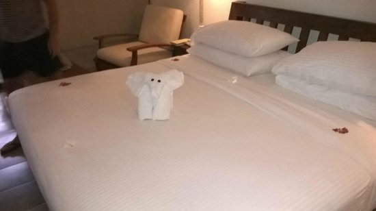 Jetwing Beach: Big bed & towel origami