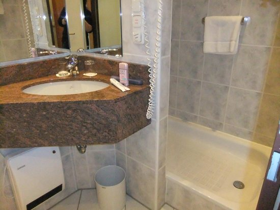 Sheraton Frankfurt Congress Hotel : Efficient bathroom