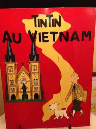 Rive Gauche: Tintin sign in front hall, upstairs
