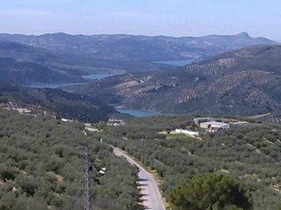 Zagra, Spanyol: vistas del panrano de iznajar