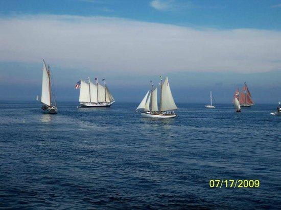 Rockland Breakwater Light: Tall Ships Festival - July
