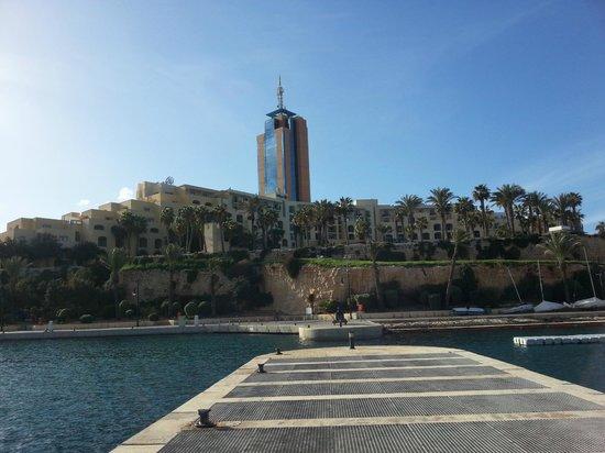 Hilton Malta: Hotel from Marina