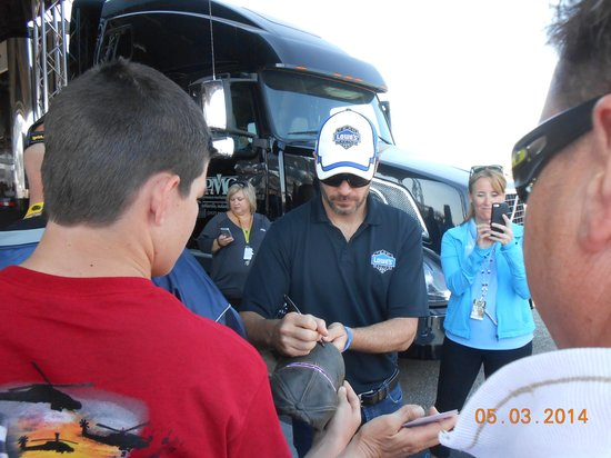 Talladega Superspeedway Getting autographs at Chevy Tent & Getting autographs at Chevy Tent - Picture of Talladega ...