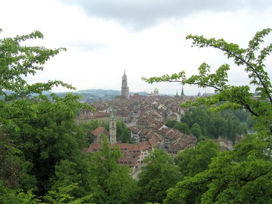 Old Town Bern: View on the city from the Rose Garden
