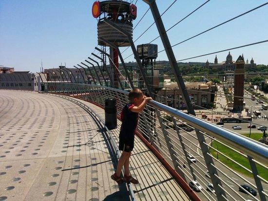 La Lola de las Arenas: La vue panoramique du haut du centre commercial Las Arenas de Barcelona