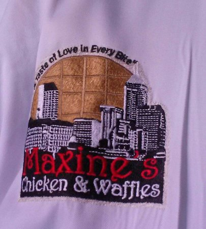 Maxine's Chicken & Waffles: This is the Chefs jacket, read the waffles border.