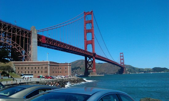 Fort Point National Historic Site: Golden Gate Bridge with Fort Point