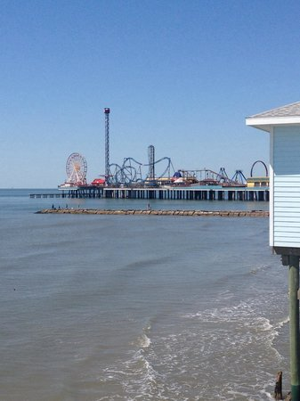 Galveston Island Historic Pleasure Pier : As close as we got to the pier due to price!
