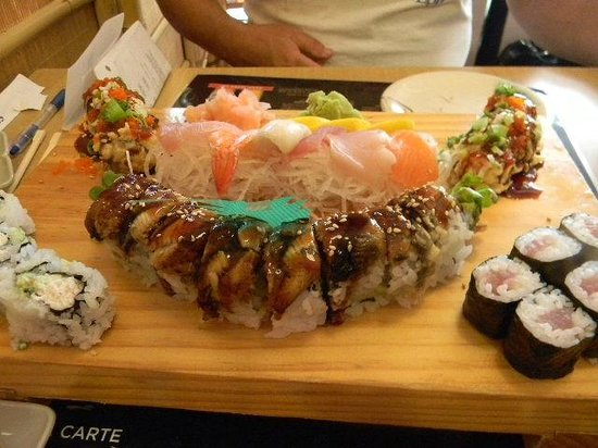 Dragon Fried Shrimp Roll With Sashimi Picture Of Sumo Japanese
