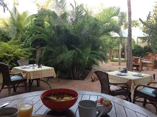 Wonders Boutique Hotel: Frühstück im Garten